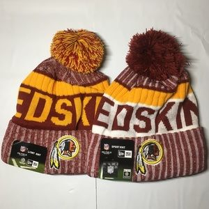 2 Washington Redskins beanie hats